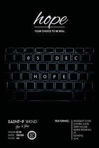 H O P E  ×  Saint-P WKND  ×  December 05