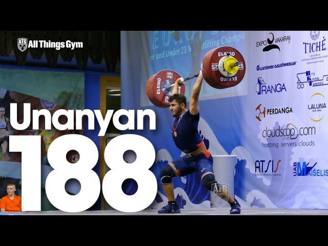 Razmik Unanyan (77kg, Russia) 188kg Clean Jerk 2015 European U23 Weightlifting Championships