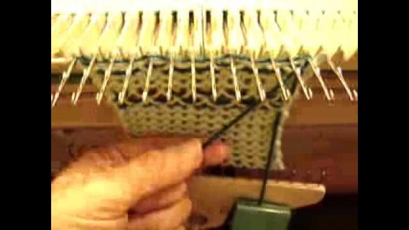 Knit weave On Manual Knitting Machines