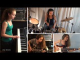 Van Halen - Right Now piano, drum, guitar, bass cover by Sina