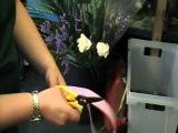 Как сделать бант для украшения букета How to make a floristry bow