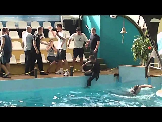 Драка в Ростовском дельфинарии Охранники Искупались