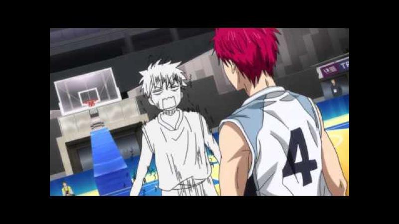 Rus Баскетбол Куроко / kuroko no basuke / Kuroko no Basket 3 сезон 19 серия смешной момент / прикол