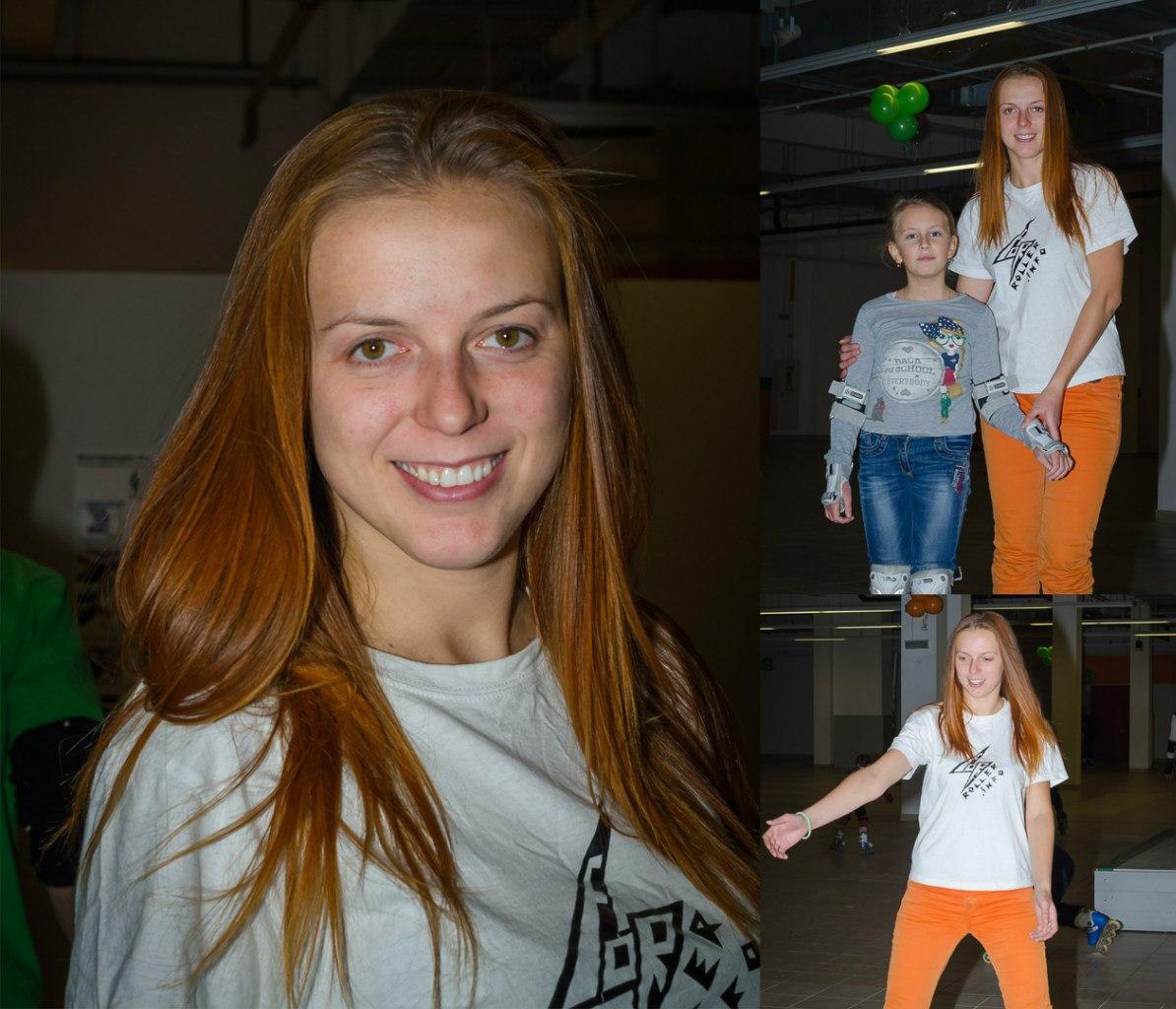 Вера - инструктор роллер школы 4roller.info и её милая ученица