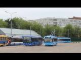 Теперь ты видел ВСЁ))) Спринт автобуса и троллейбуса на время,кто быстрее????? Троллейбус обогнал автобус с места за 11 секунд )