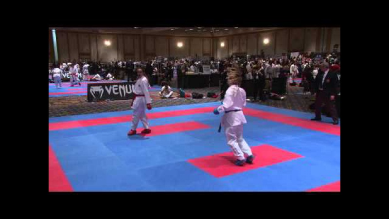 2015 US Open Open Weight Elite Female Kumite Maya Wasowicz USA vs Natalia Brozulatto Spigolon BRA