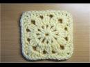 四角モチーフ4 かぎ編みの基本 How to Crochet Square Motif Crochet and Knitting Japan