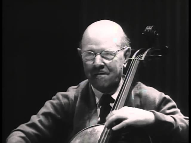 Pau Pablo Casals Master Class Haydn D Major Concerto 1st movement