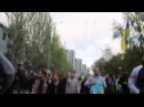 28 апреля 2014 Донецк ⚡ Ukraine crisis 2014 Donetsk Demo Violence Erupts