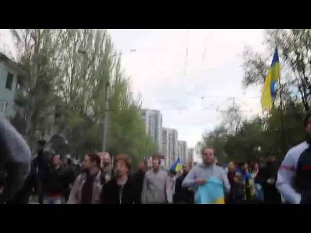 28 апреля 2014. Донецк. ⚡ Ukraine crisis 2014 - Donetsk Demo - Violence Erupts!