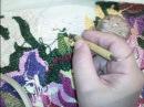 Вышивка в ковровой технике продергивание нитей