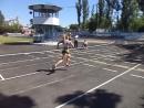 Моё Тестирование по Физическому воспитанию в ОГУВД (мой финиш на дистанцию 100м с результатом 15,59)