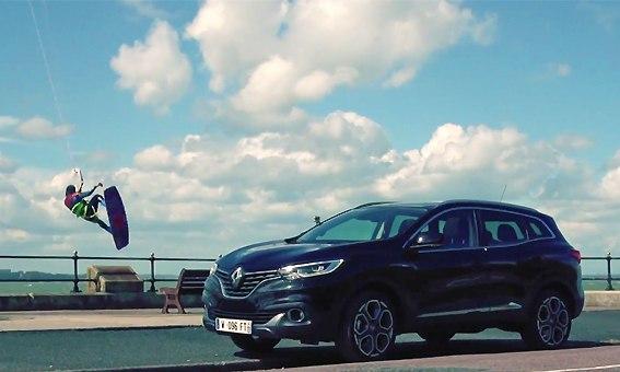 Кайтсёрфинг в рекламе Renault KADJAR