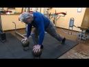 Необычные упражнения с гирями и отжимания