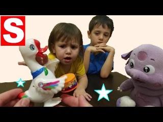 Лунтик играется с RoboFish - Робот рыбкой и Гусеноком Барабанщиком. Игрушки для детей с Мисс Саей