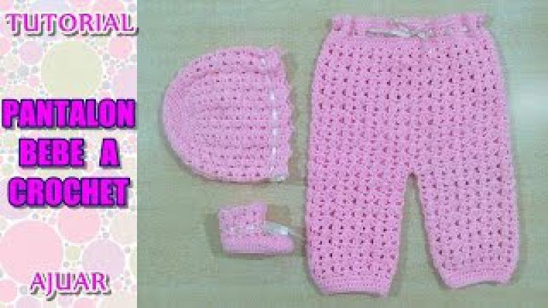 DIY como tejer pantalon para bebe a crochet, ganchillo AJUAR