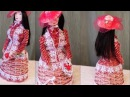 Плетение из газет кукла барышня мастер класс weaving newspapers Trenzado plano con periodicos