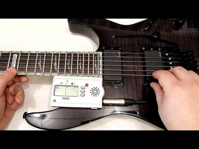 Настройка гитары с системой Floyd Rose