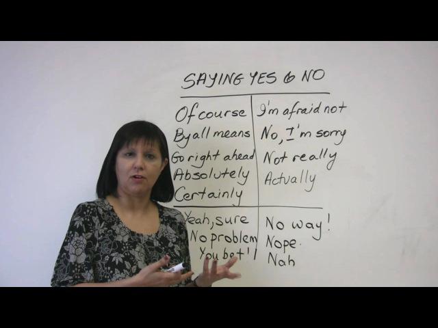 Polite English - Saying Yes and No