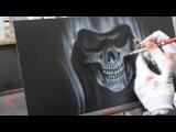 Airbrush Videoanleitung Sensenmann in Flammen - Grim Reaper in Flames Paint Howto Tutorial