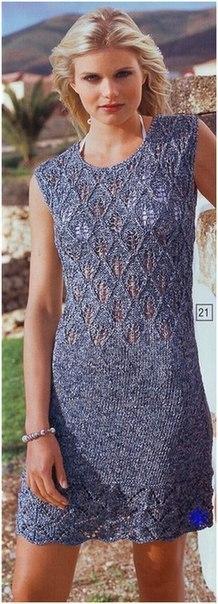 Платье спицами (2 фото) - картинка