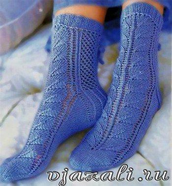 Ажурные носочки. Отличный подарок вязаные ажурные носки, обрадуйте своих близких чудесными носочками… (3 фото) - картинка