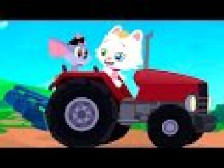 Мультфильмы для детей. КИСА: Трактор. Развивающие мультики про машинки