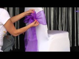 How to various ways to tie an organza sash to a chair cover