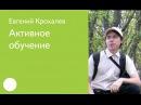 017. Активное обучение — Евгений Крохалев