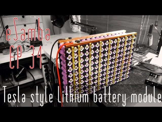 DIY Tesla Car - lithium ion 18650 battery - VW Kombi