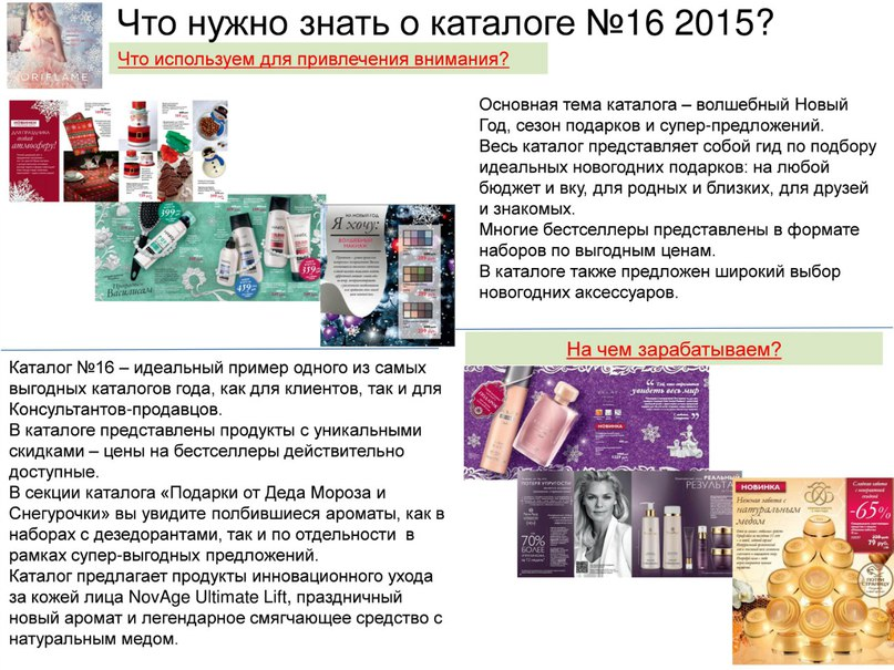 Новинки каталога Орифлэйм №16 (2015)