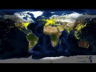 Движения самолетов по всему миру.