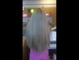 Бирюзовое наращивание волос