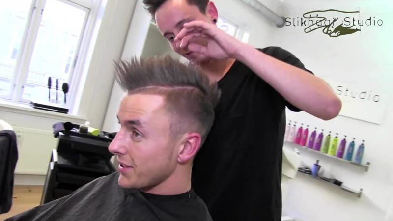 Slikhaar. El Shaarawy inspired men_s hair tutorial - footballer hair - How to style men_s hair