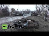 Разбитая техника в  центре Углегорска и на окраине Никишино