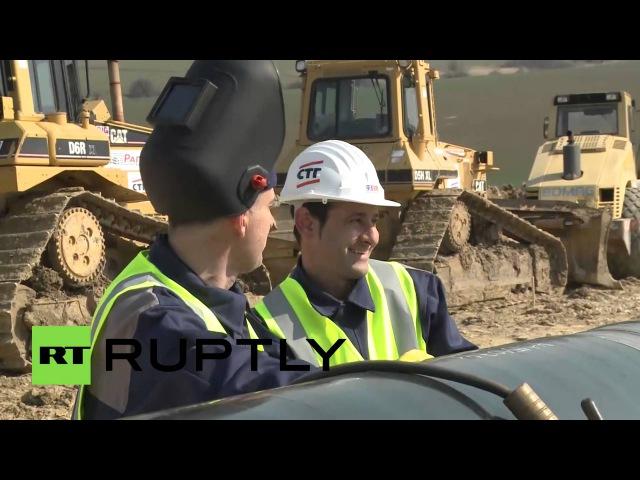 Российская компания «Стройтрансгаз» начала строительство газопровода в Македонии