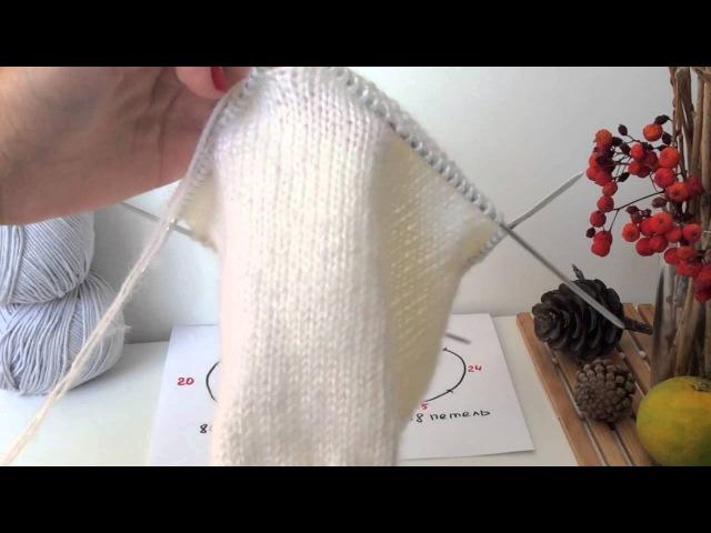 Как связать макушку шапки вяжем плавную линию убавлений для шапки