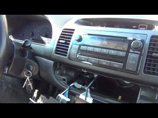 Установка адаптера Yatour на Toyota Camry 2002 2003 2004 2005 2006 USB SD AUX iPhone