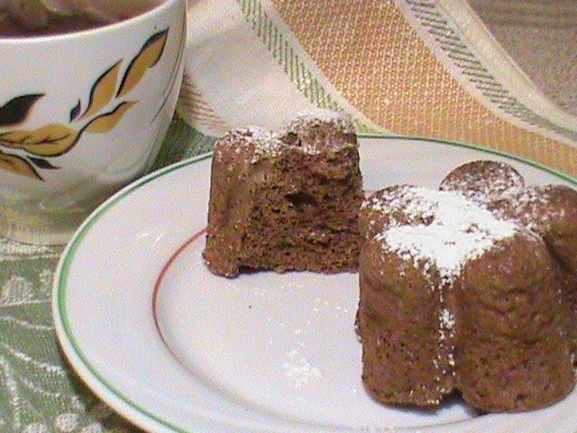 Шоколадные кексы в микроволновке без отрубей и крахмала. Диета Дюкана