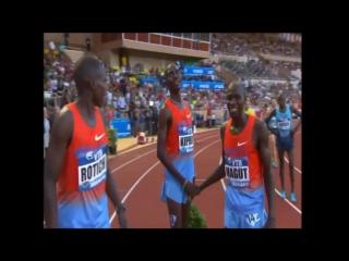 Рекорд Европы в беге на 1500м - 3.28,81 Монако 19.07.2013 Мо Фара