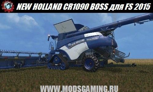Farming Simulator 2015 download mod harvester NEW HOLLAND CR1090 BOSS V1.0