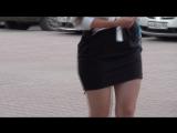 SEXY GIRL !!! BIG ASS !!! Сексуальная девушка в короткой юбке !!!
