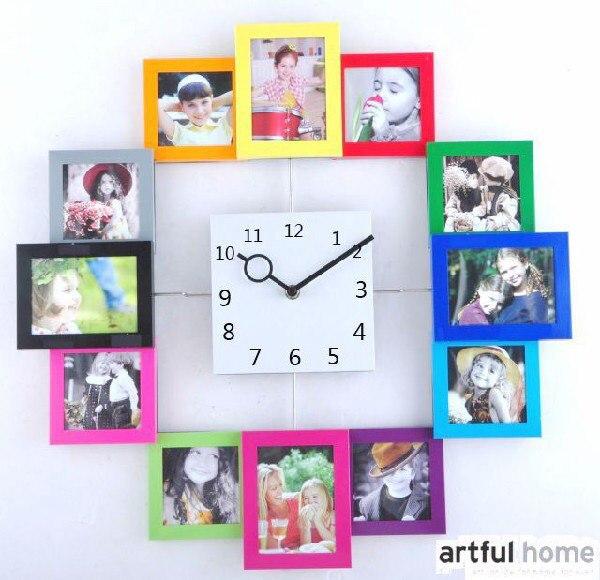 Часы из рамок для фото