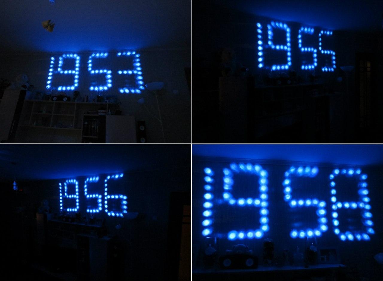 Часы проекционные часы своими руками 60