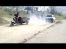 моторололлер муравей против самодельного трактора