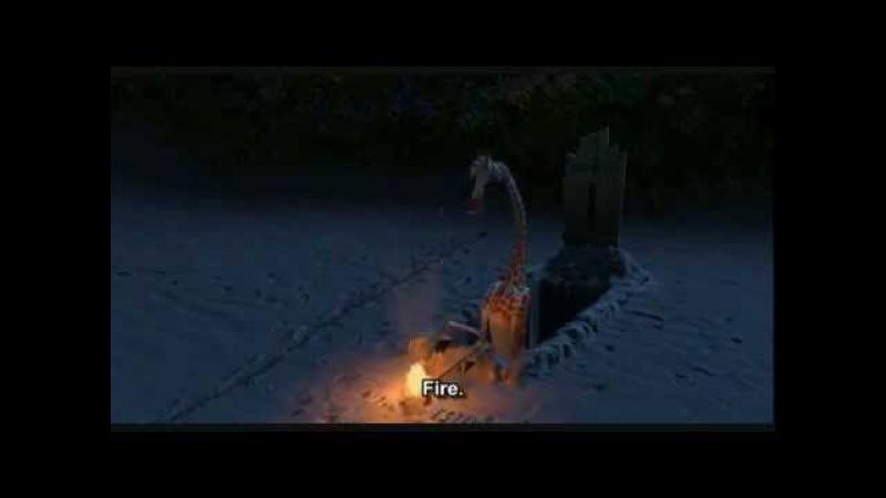 Madagascar 1 - Melman's Desperate Attempt to Start a Fire