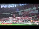Российские футбольные фанаты в поддержку братьев Сербов: