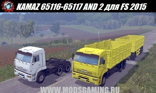 Farming Simulator 2015 download mod truck KAMAZ 65116-65117 AND 2 v1.0