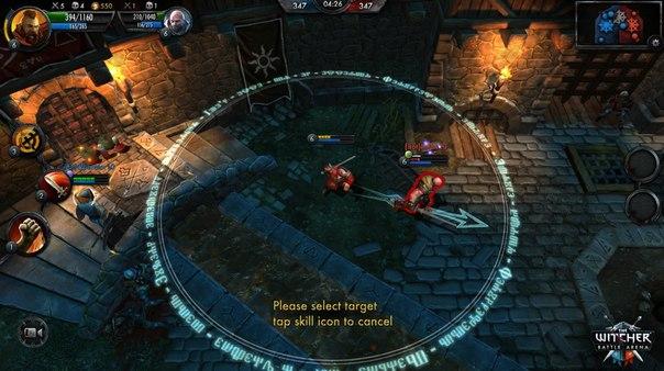 Взломанная The Witcher Battle Arena - победи всех.