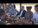 Путин пообедал с фермерами рыбой и похлебкой